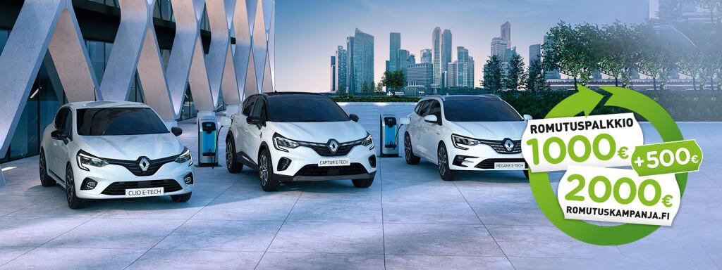 Hyödynnä romutuspalkkio uuteen Renault-autoon!
