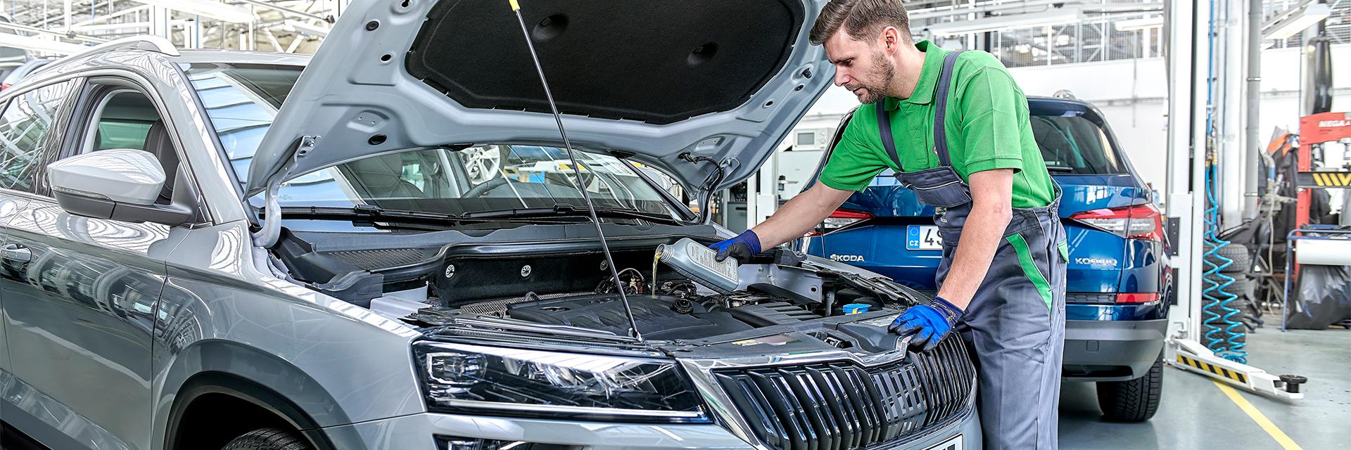 Škoda Eco-huolto Käyttöautossa