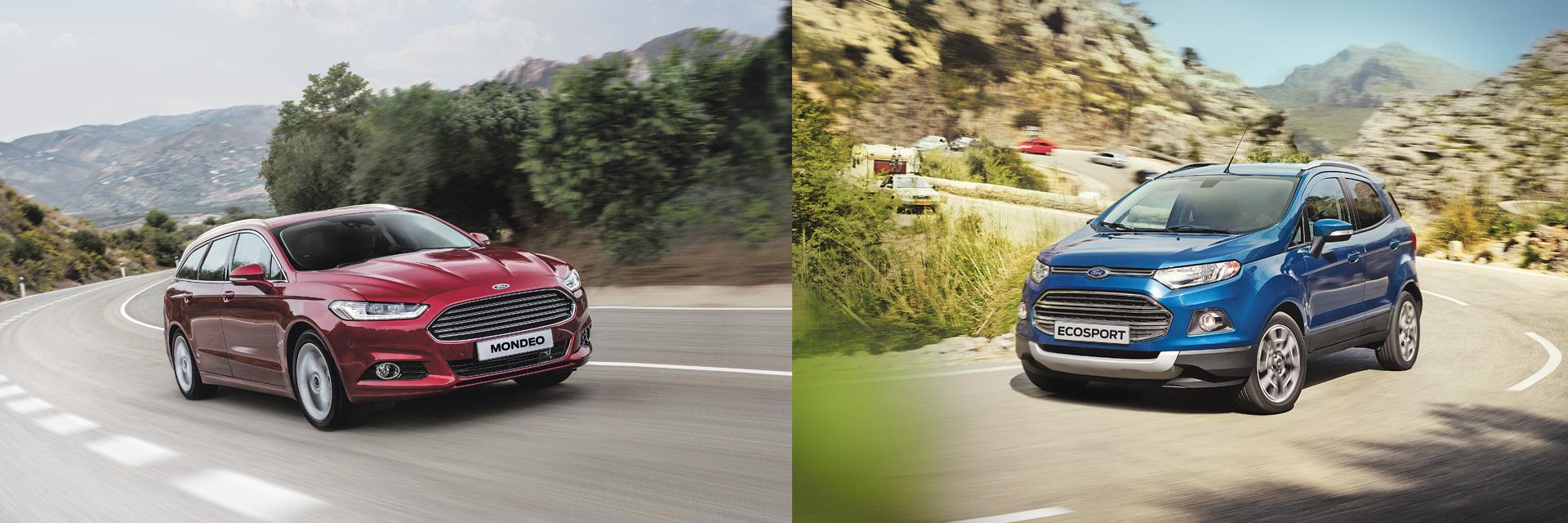 Määräerä Ford Mondeo- ja Ecosport-malleja